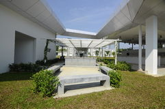 Ablution of Ara Damansara Mosque in Selangor, Malaysia. SELANGOR, MALAYSIA – JUNE 15, 2015: Ara Damansara Mosque is a modern design mosque on the green stock images
