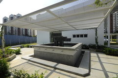 Ablution of Ara Damansara Mosque in Selangor, Malaysia. SELANGOR, MALAYSIA – JUNE 15, 2015: Ara Damansara Mosque is a modern design mosque on the green royalty free stock photography