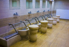 Ablution bench inside modern mosque Royalty Free Stock Image