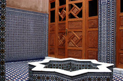 Ablution courtyard of the mosque Royalty Free Stock Image