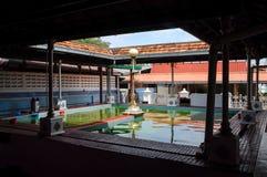 Ablution de Masjid Tengkera (mosquée de Tranquerah) au Malacca Photographie stock