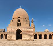 Ablution fountain of Ibn Tulun Mosque with minaret in far distance, Cairo, Egypt Stock Images