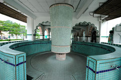 Ablution of the India Muslim Mosque in Ipoh, Malaysia Royalty Free Stock Image