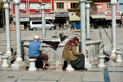 Ablution performing infront of Selimiye mosque in  Royalty Free Stock Photo