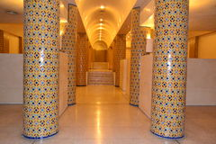 Ablution place in Hassan II mosque in Casablanca. Royalty Free Stock Images