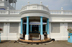 Ablution of Sultan Ibrahim Jamek Mosque. The mosque was built on 1927 and stand near the mouth of the Muar River at Mu Stock Image