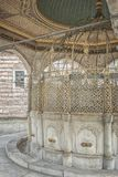 Ablution Taps at Mosque. Ablution taps at a mosque in Istanbul where worshippers wash their feet Stock Images
