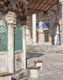 Ablution taps at sokullu pasa camii Mosque Royalty Free Stock Photos