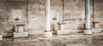 Ablution taps Stock Photo