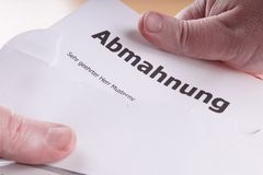 Abmahnung Stock Image