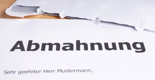 Abmahnung Royalty Free Stock Image