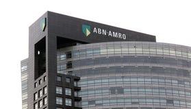 Abn Amro bank i amsterdam Royaltyfri Bild