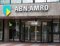 Abn Amro bank i Nederländerna Arkivfoton