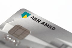 ABN Amro credit card. ABN Amro (Dutch bank) credit card detail with logo and chip Royalty Free Stock Photography