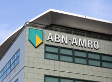 Free ABN AMRO On A Facade In Amsterdam Stock Photo - 85360470