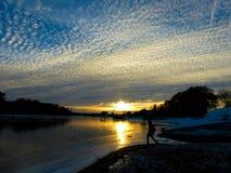 Abnahme auf dem Fluss Kotorosl Lizenzfreies Stockbild