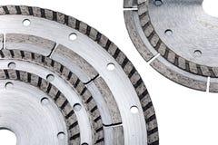 Abnehmbare Scheiben für sind scharfe Baumaterialien Lizenzfreie Stockbilder