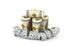 Abnehmen für Geld Stockbild