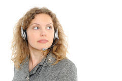 Abnehmer-Repräsentant mit Kopfhörer Lizenzfreies Stockbild