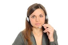 Abnehmer-Repräsentant mit Kopfhörer Stockfotos