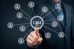 Abnehmer-Verhältnis-Management CRM Stockbild