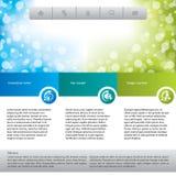 Abnehmersorgfalt-Websiteschablone Stockbilder