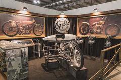 Abnormal Cycles stand at EICMA 2014 in Milan, Italy Stock Image