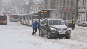Heavy snowfall in Russia on 20 April 2017