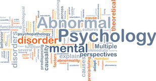 Abnormal psychology background concept Royalty Free Stock Images