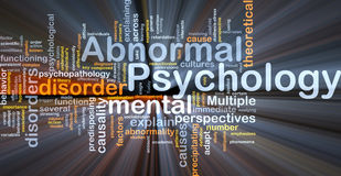 Abnormal psychology background concept glowing Stock Photo