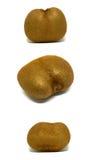 Abnormal shaped kiwi isolated Stock Images