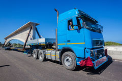 Abnormal Truck Load Engineering Construction Stock Photography