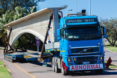 Abnormal Truck Trailer Heavy Load Stock Photos