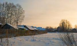 Abnormale koude werktijden in het centrum van het Europese deel van Russi Royalty-vrije Stock Afbeelding