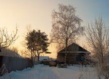 Abnormale koude werktijden in het centrum van het Europese deel van Russi Stock Foto