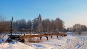 Abnormale koude werktijden in het centrum van het Europese deel van Russi Royalty-vrije Stock Afbeeldingen
