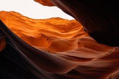 Abnutzung des Steins in der unteren Antilopen-Schlucht Arizona, Vereinigte Staaten Lizenzfreies Stockbild