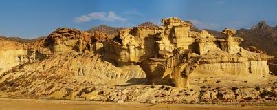 Abnutzung im Sandstein stockbilder