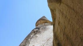 Abnutzungsform der Felsen und der Berge in Cappadocia in Anatoli stockbilder