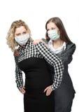 Abnutzungsschablone gegen Viren Lizenzfreies Stockfoto