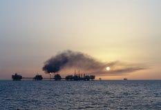 Abo Al Bukhoosh oil complex Stock Photos