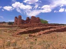 Abo Mission Ruins stockbild