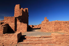 Abo Mission Ruins. Abo Ruins at Salinas National Monument in the State of New Mexico Stock Photos