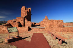 Abo Mission Ruins. Abo Ruins at Salinas National Monument in the State of New Mexico Royalty Free Stock Image