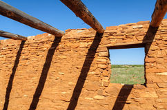 Abo Ruins al monumento nazionale di missioni del pueblo delle saline immagine stock libera da diritti
