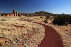 Abo Ruins Trail. Abo Ruins at Salinas National Monument in the State of New Mexico Stock Image