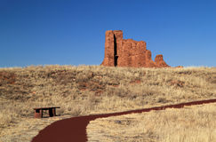 Abo Ruins Trail. Abo Ruins at Salinas National Monument in the State of New Mexico Stock Images