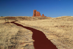 Abo Ruins Trail. Abo Ruins at Salinas National Monument in the State of New Mexico Royalty Free Stock Photography