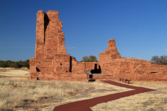 Abo Ruins Trail. Abo Ruins at Salinas National Monument in the State of New Mexico Stock Photography