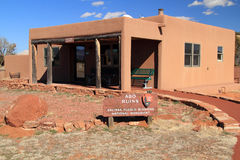 Abo Ruins Visitors Center. Abo Ruins at Salinas National Monument in the State of New Mexico Stock Photo